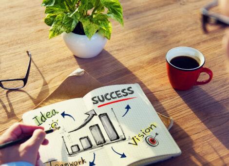 Businessman Brainstorming About Business Success